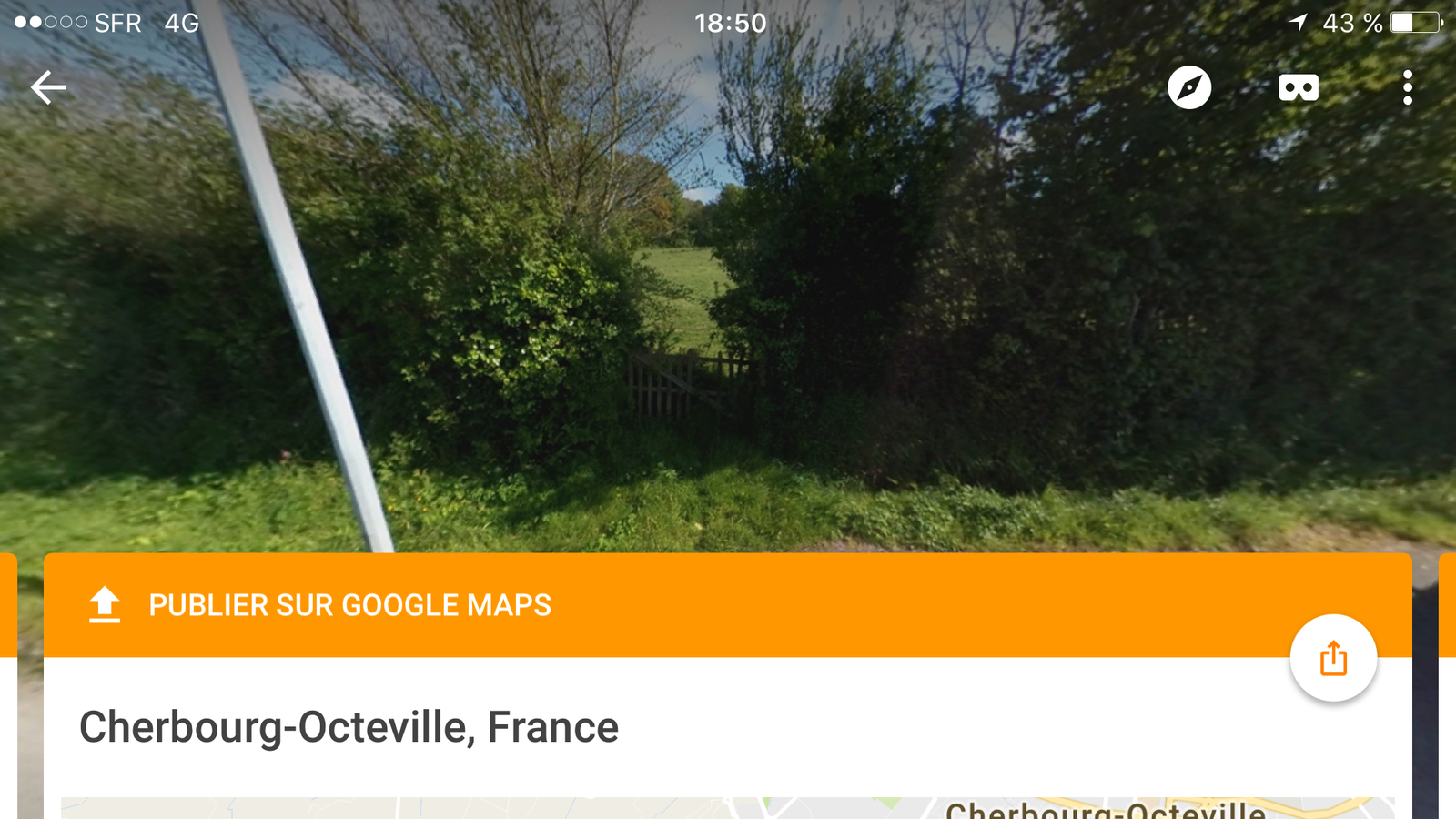 Street View sur Iphone