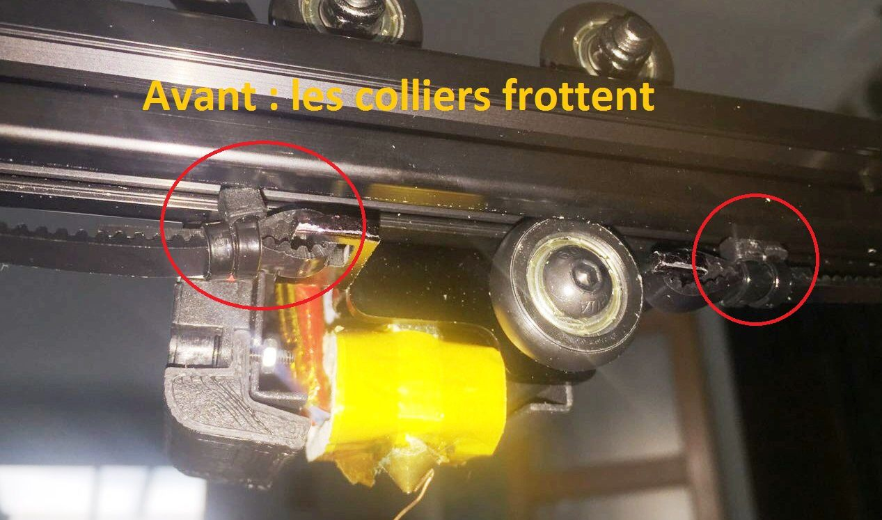 Modification de la position des colliers