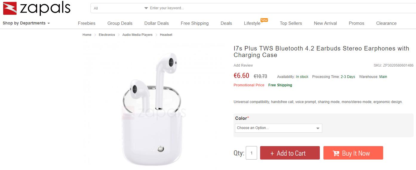 Remplacement de Charge de Cas pour AirPods Adaptateur Chargeur Charging Case Non AirPods Pas appairage Bluetooth