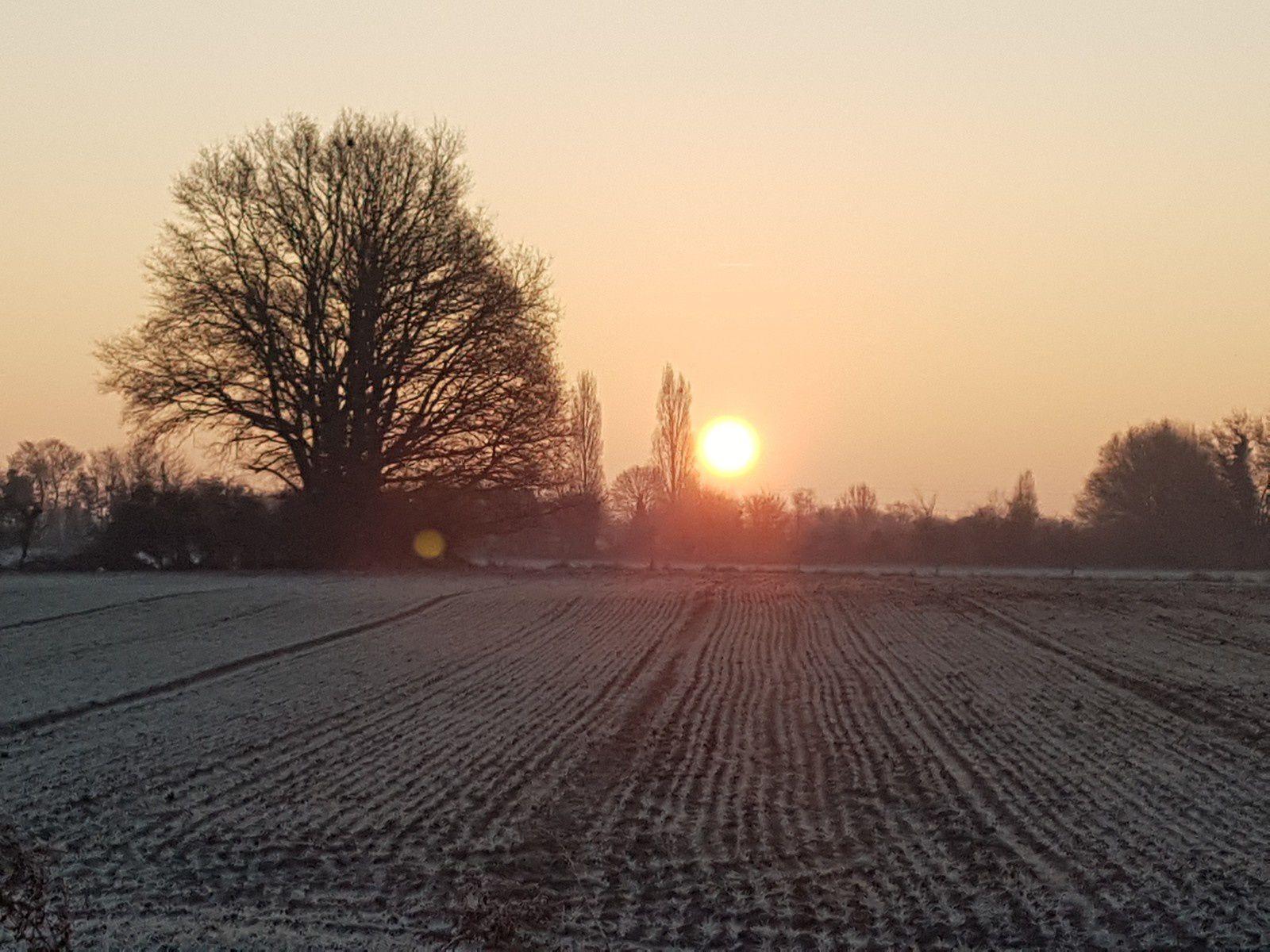 Quelle est belle notre campagne gelée au levé du soleil ... envoyez-nous vos photos !