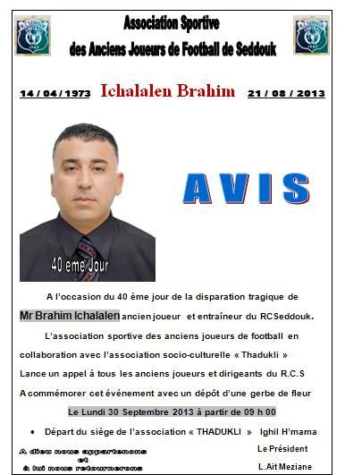 Brahim Ichalalen  .. 40 ème Jour