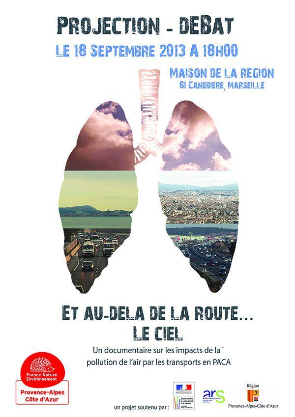 """INVITATION à la projection d'un documentaire """"qualité de l'air, transports et santé"""" en PACA"""