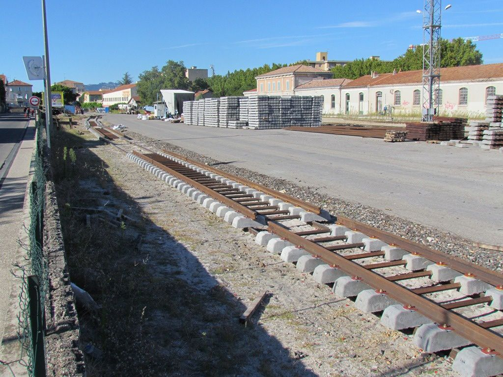 Vol de rail sur le chantier Carpentras-Avignon