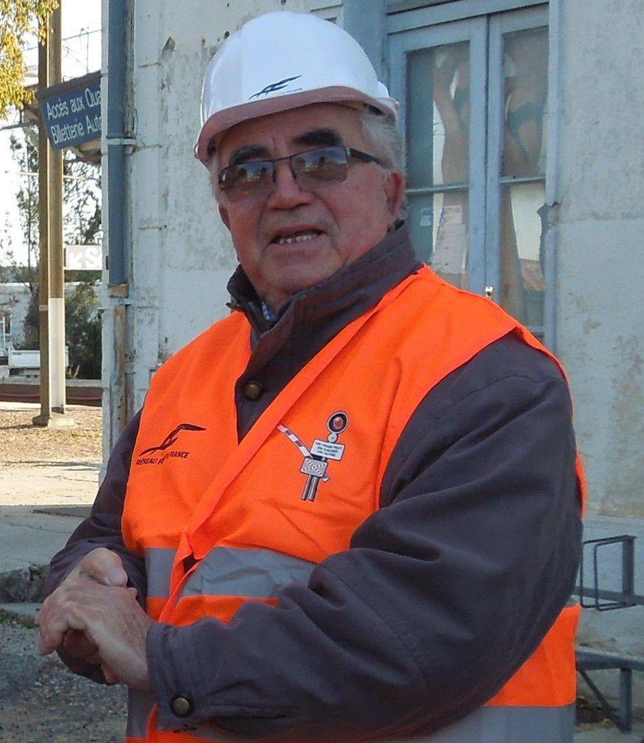 Visite du chantier de travaux  sur la ligne Avignon-Carpentras