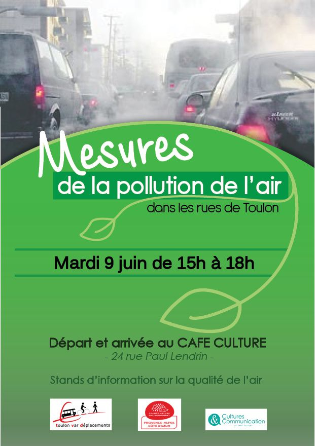Mesures de la pollution de l'air dans les rues à TOULON