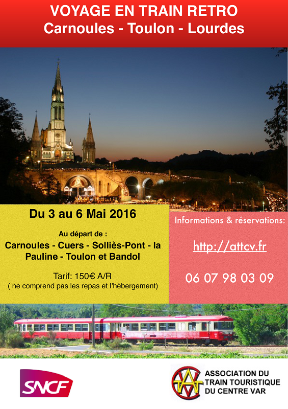 Train spécial VAR - LOURDES