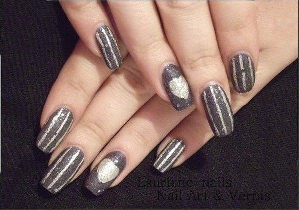 Nail art, St Valentin !!!