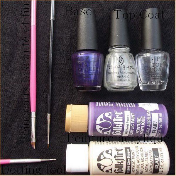 Nail Art, One Stock Violet !!!