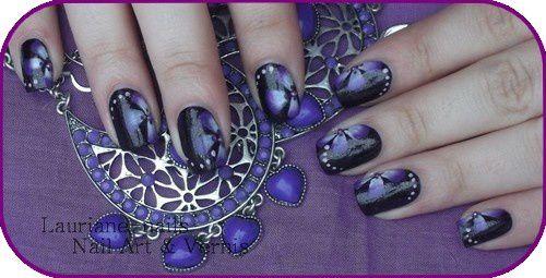 Nail Art, One strock Fleurs !!!