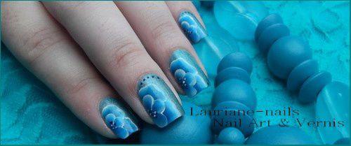 Nail Art, One Strock Bleu !!!