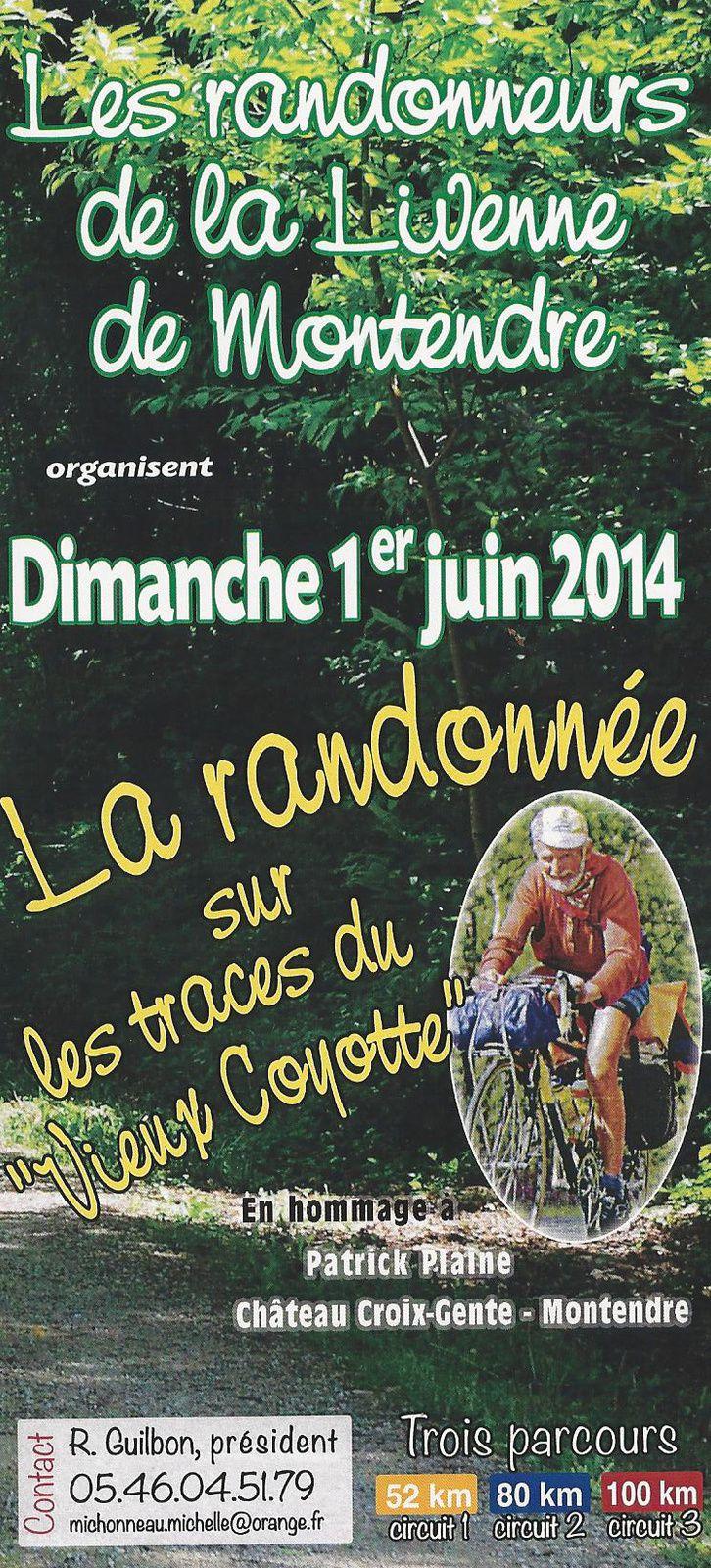 Randonnée Cyclo le 1er Juin - MONTENDRE