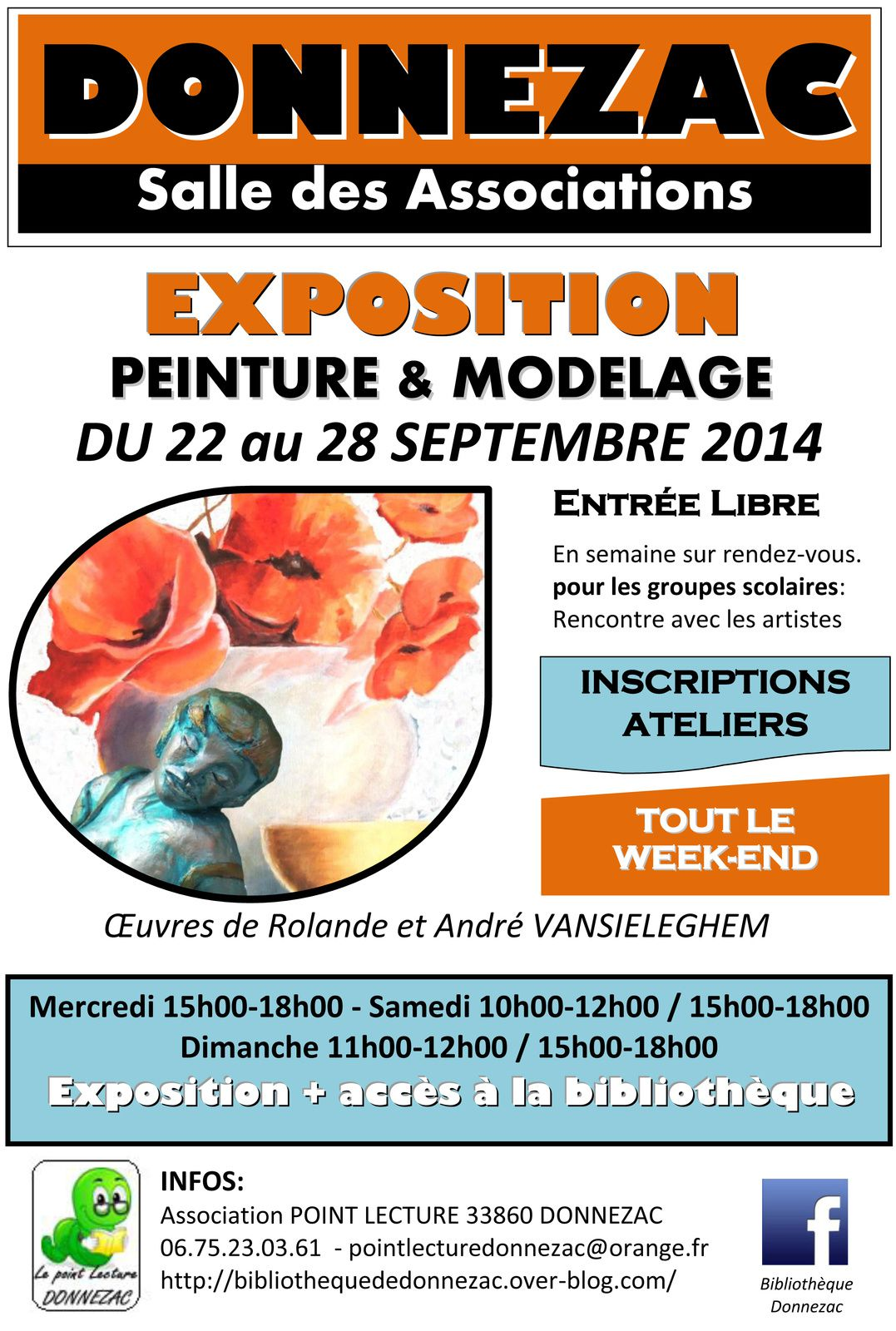 Exposition Peinture et Modelage à DONNEZAC et ATELIERS