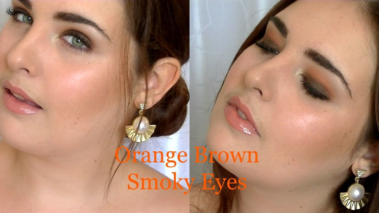 ♡ Orange Brown Smoky Eyes l Makeup tutoriel ♡