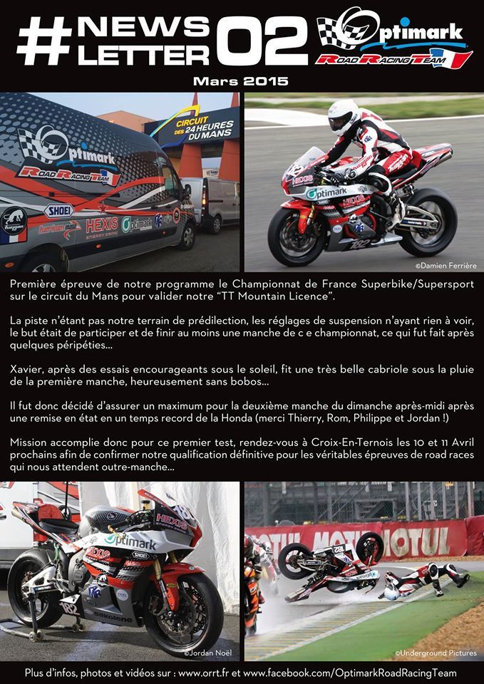 Newsletter #2 Optimark Road Racing.