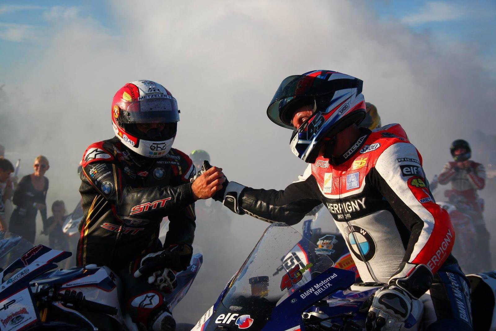 Michael Rutter (à gauche) félicité par Sébastien Legrelle ©David Detaille.