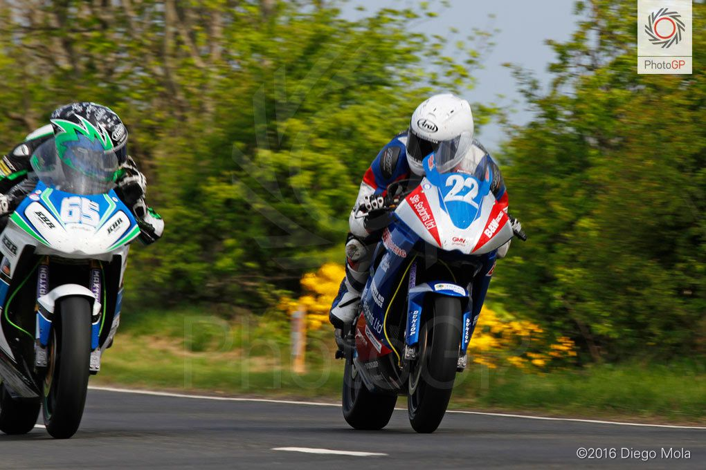 Michael Sweeney et Paul Jordan lors de la North West 200