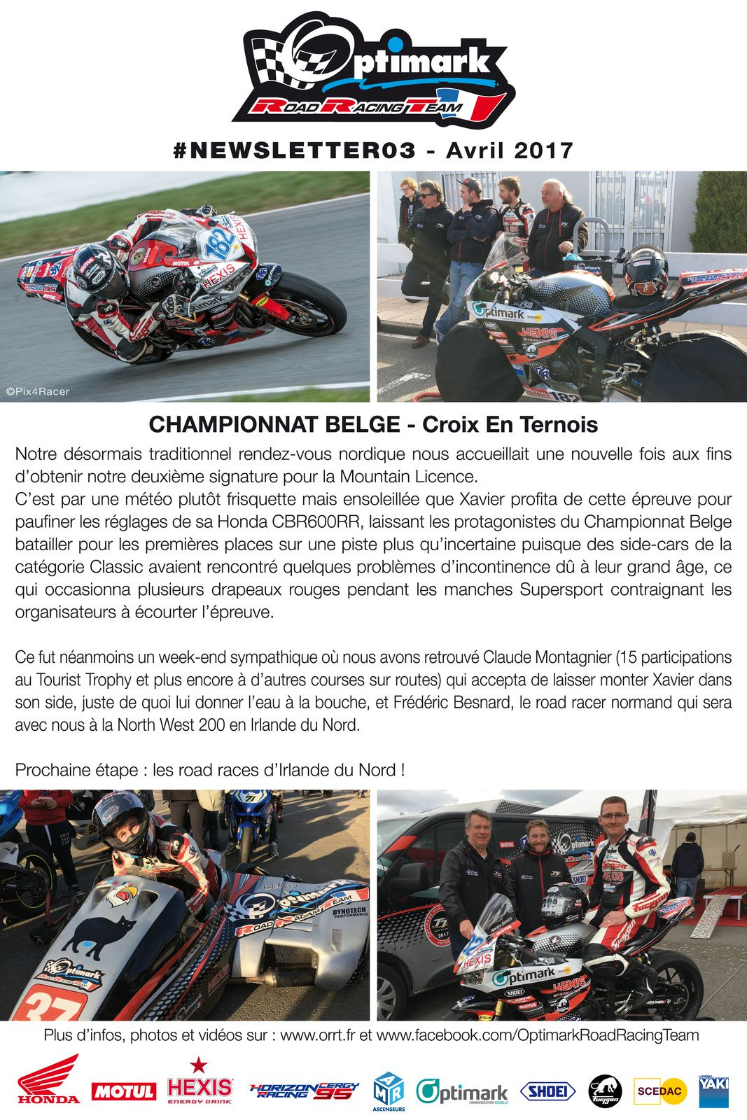 Newsletter #3 Optimark Road Racing Team
