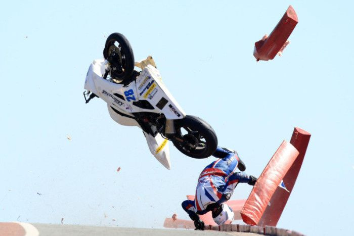 l'impressionnante chute de Chris Dixon. ©unknow