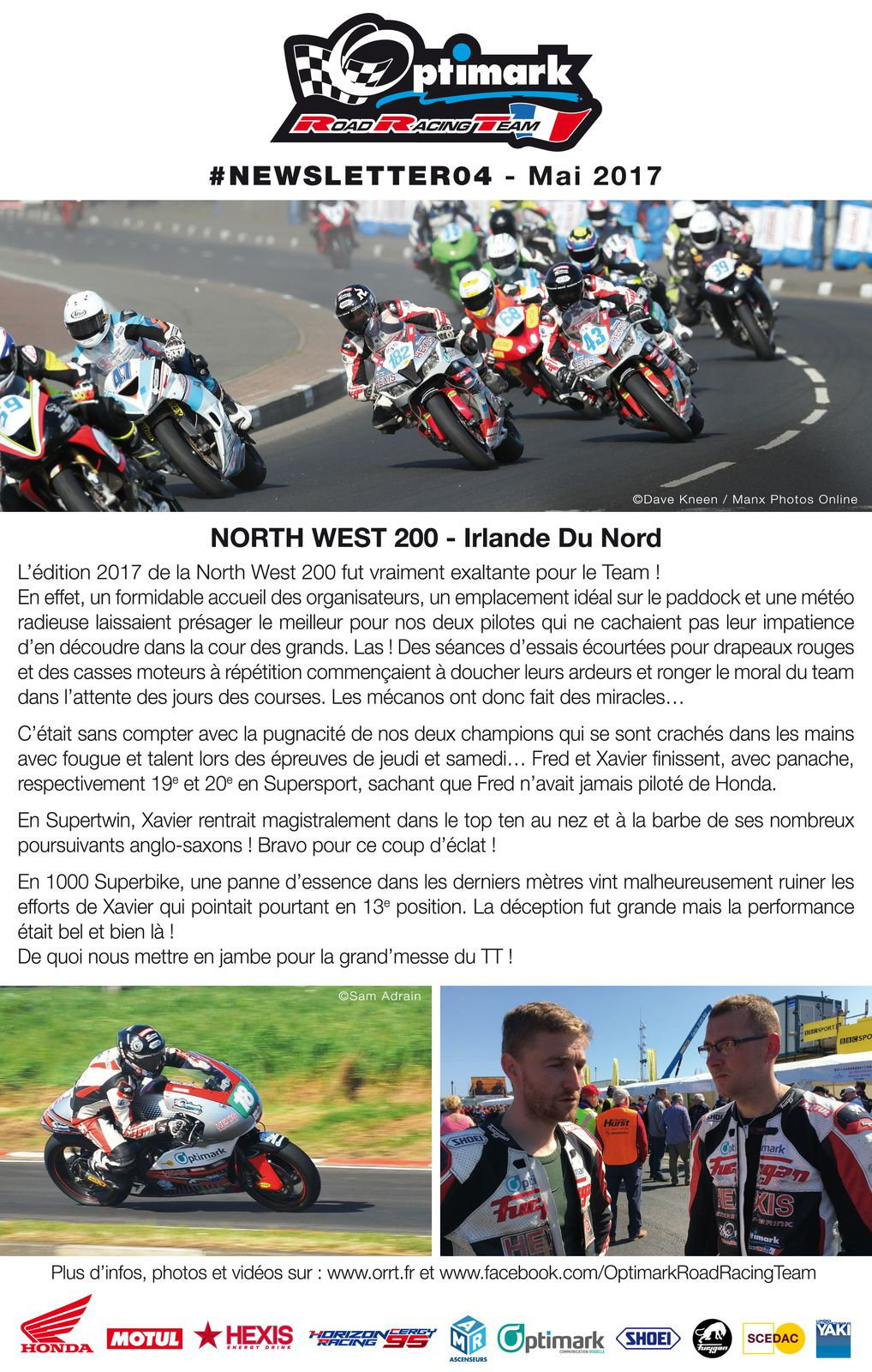 Newsletter Optimark Road Racing #4