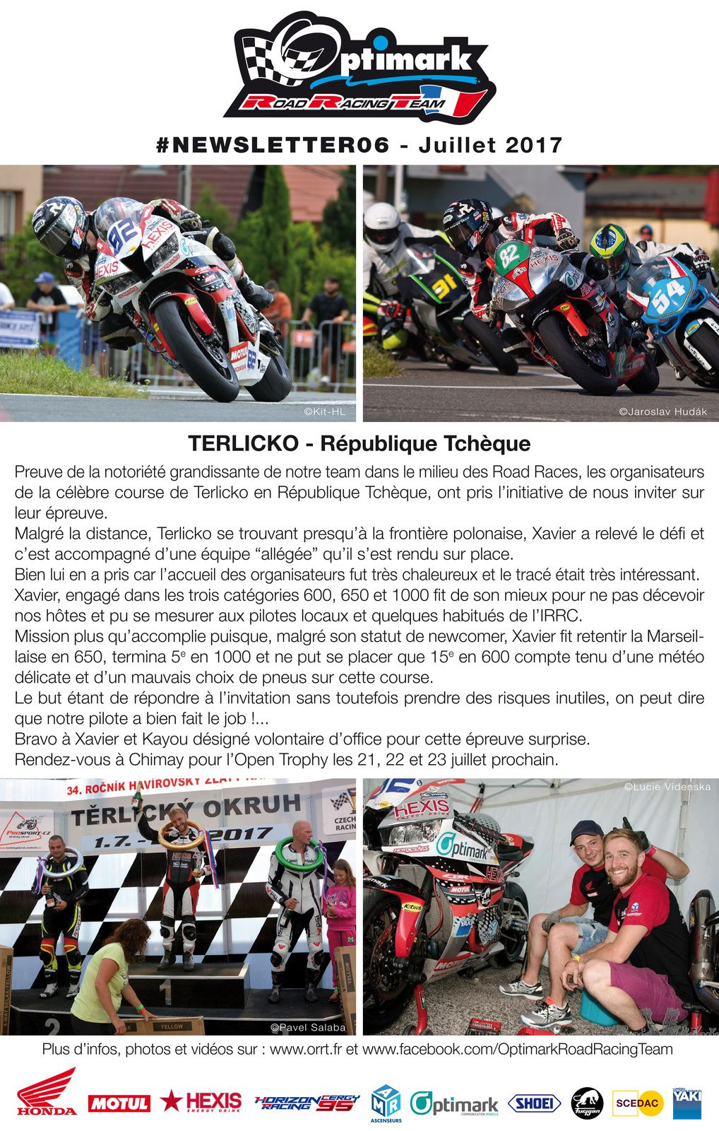Newsletter Optimark Road Racing Team #6