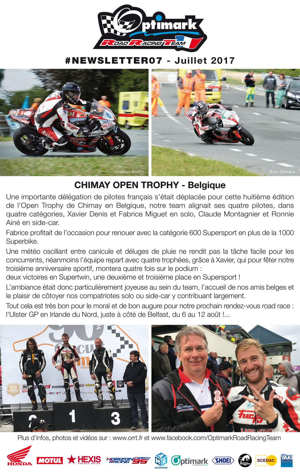 Newsletter Optimark Road Racing Team