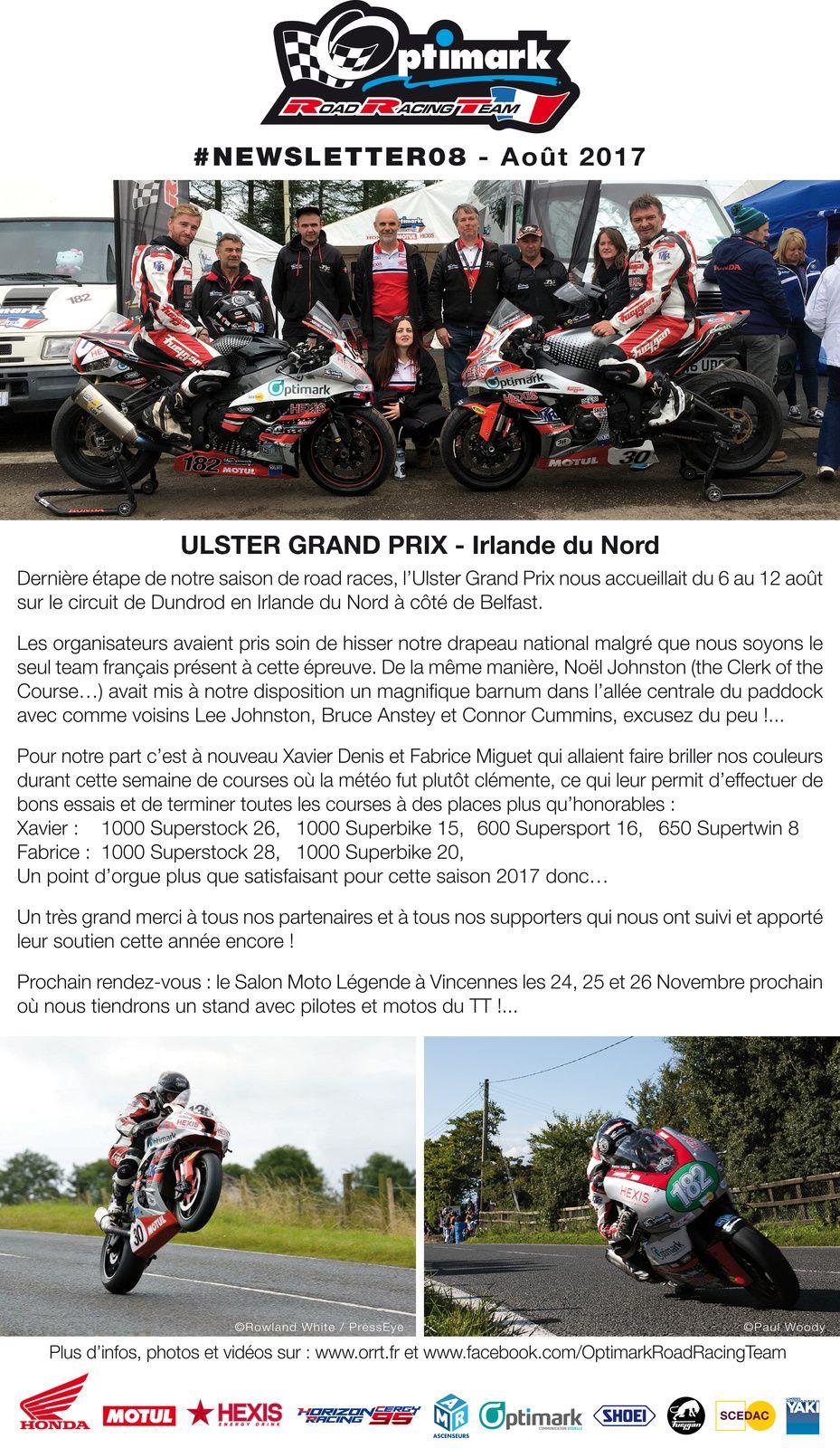 Newsletter #8 Optimark Road Racing Team