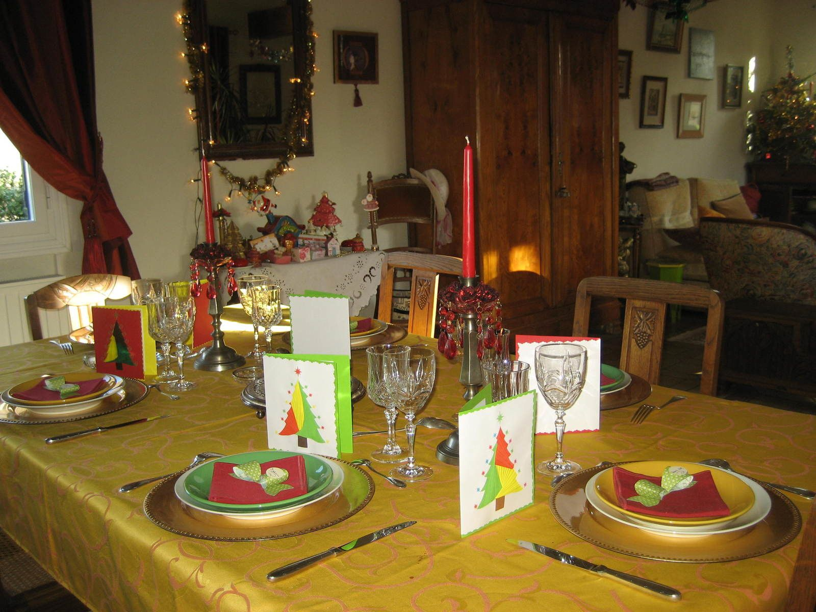 Déco de table du 25 décembre 2013