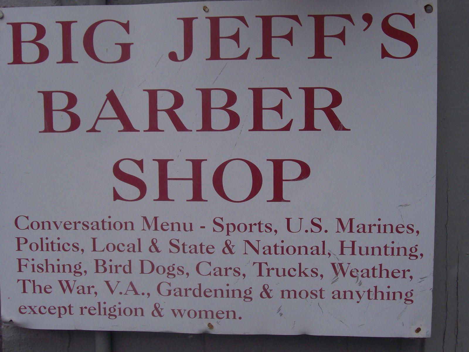 Le barber shop, une image forte de l'Amérique où l'on ne risque pas de mauvaises rencontres...