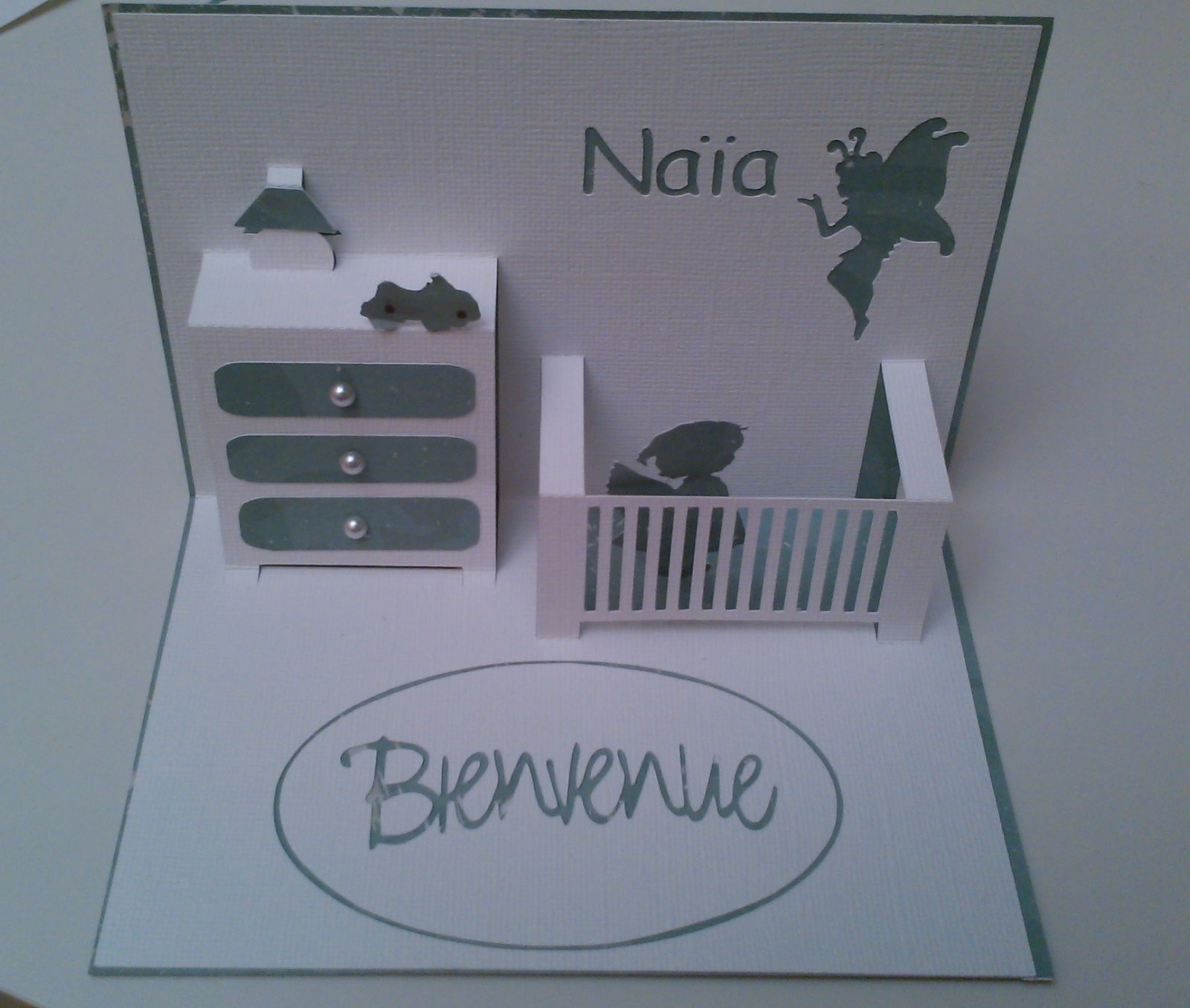 carte de naissance pop up