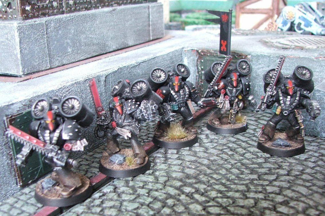 Deux escouades d'assaut Dark Angels en armures MK6 (fin)