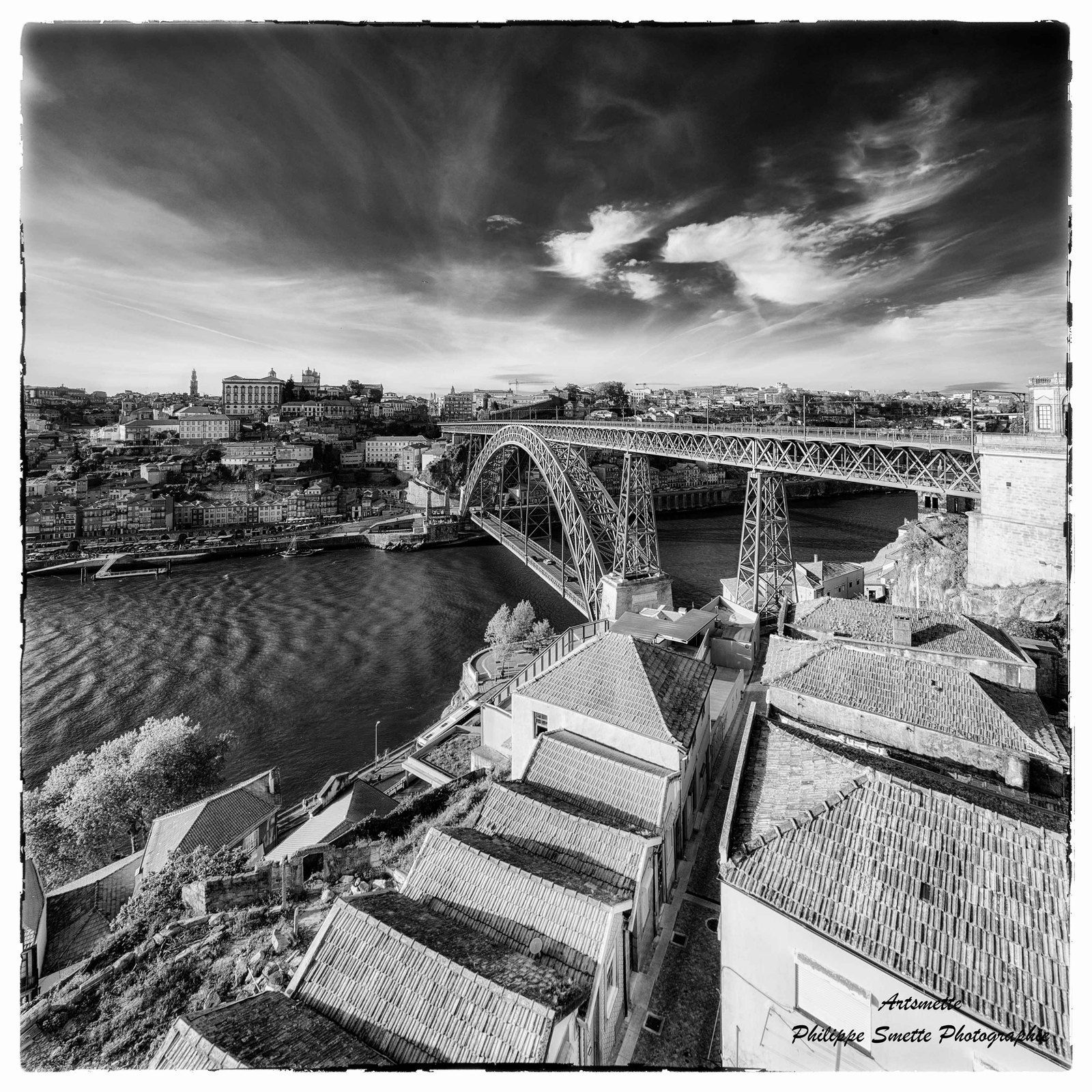 'I Love' Landscape Photography  SHOT OF THE DAY  CONGRATULATIONS +Philippe Smette you are the winner of the 'I Love' Landscape Photography 'Shot of the day' award.   Great black and white shot! love the perspective on the bridge, the sky and the creative cut out.....