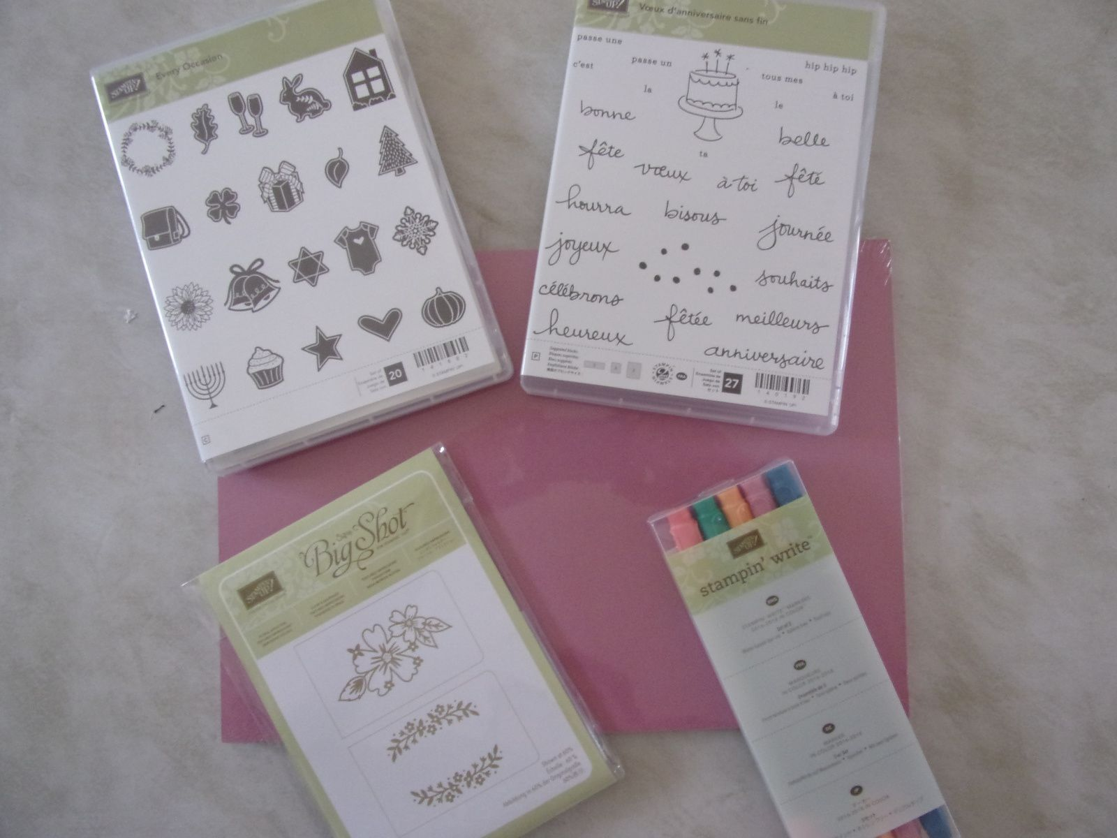 Atelier stampin'up chez Valérie