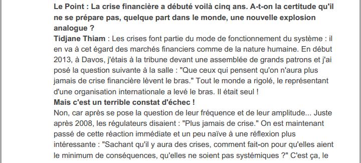  Tidjane Thiam. Celui, « que la France peut regretter d'avoir laissé partir ».