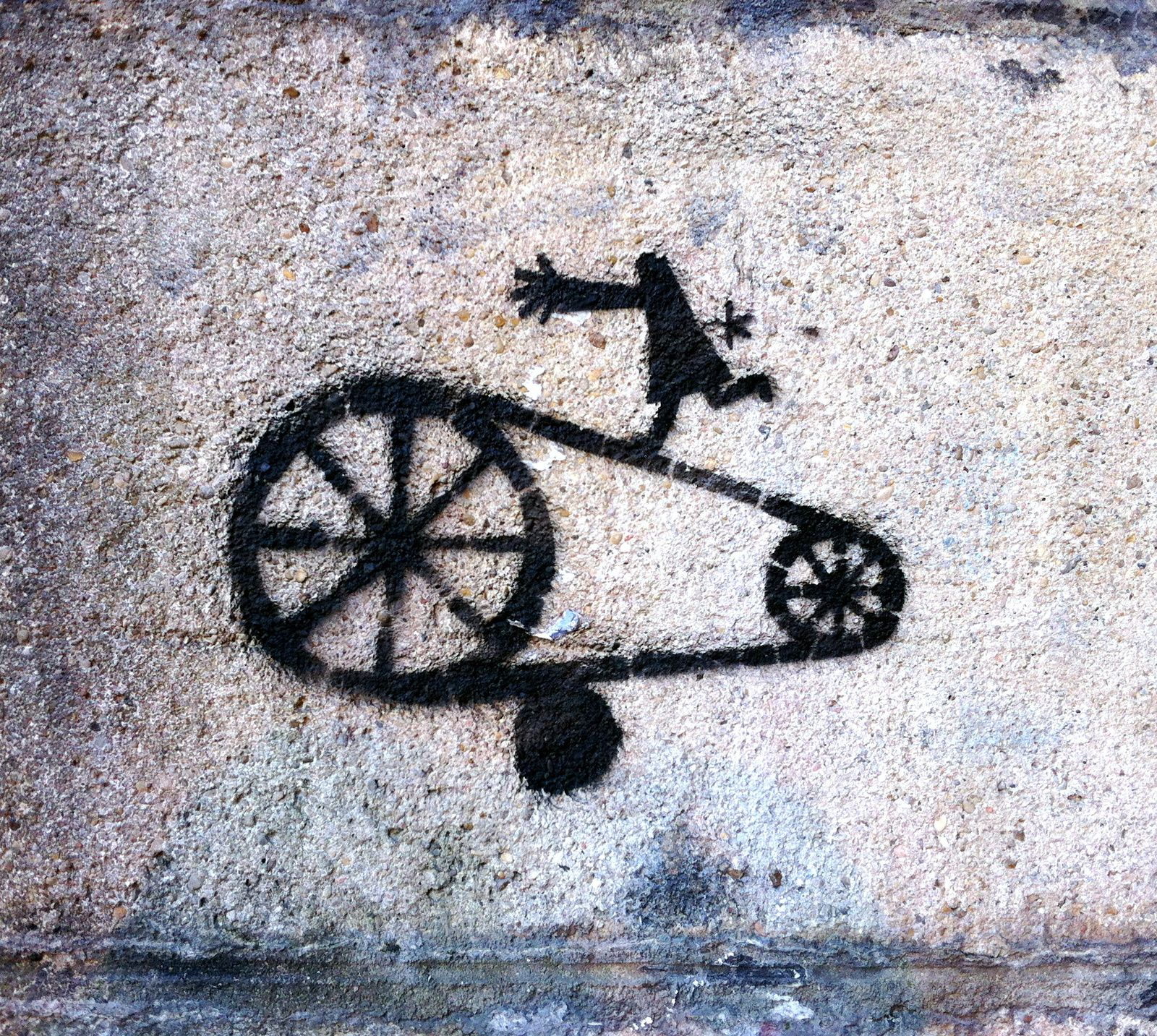Street Art. French technical humour.