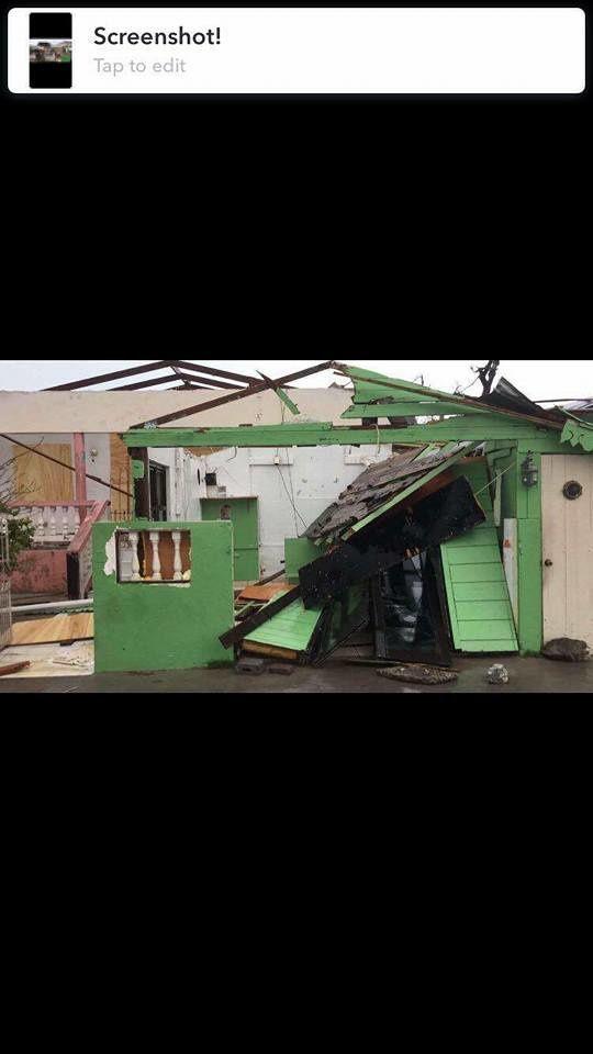 Situation pendant l'oeil du Cyclone à SXM