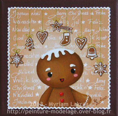 """""""Gingerbread"""" - Peinture acrylique sur toile - 20x20 cm - 2013"""