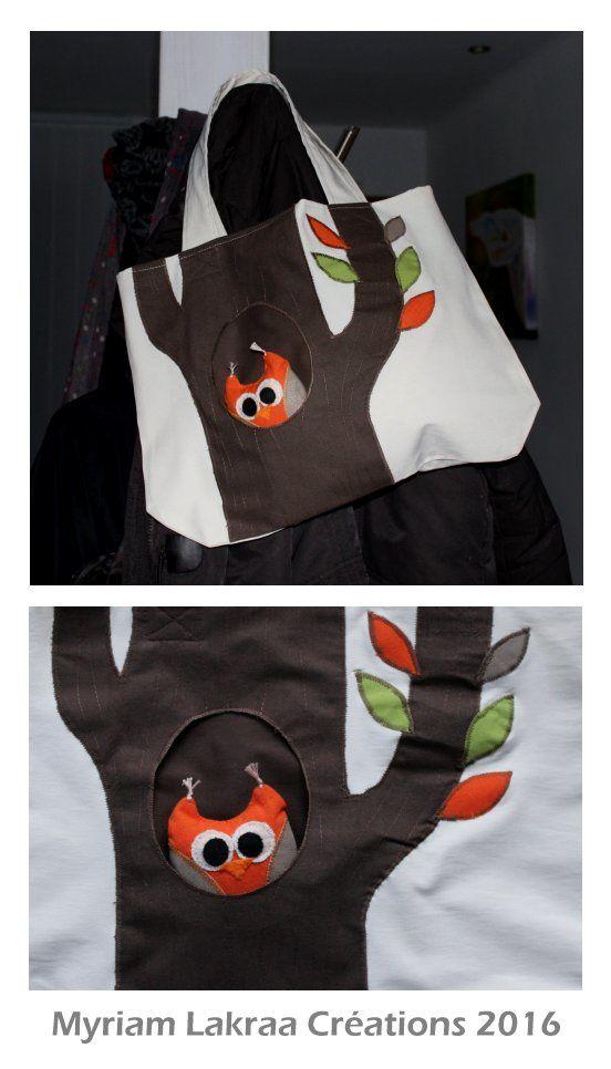 Couture : sac hibou