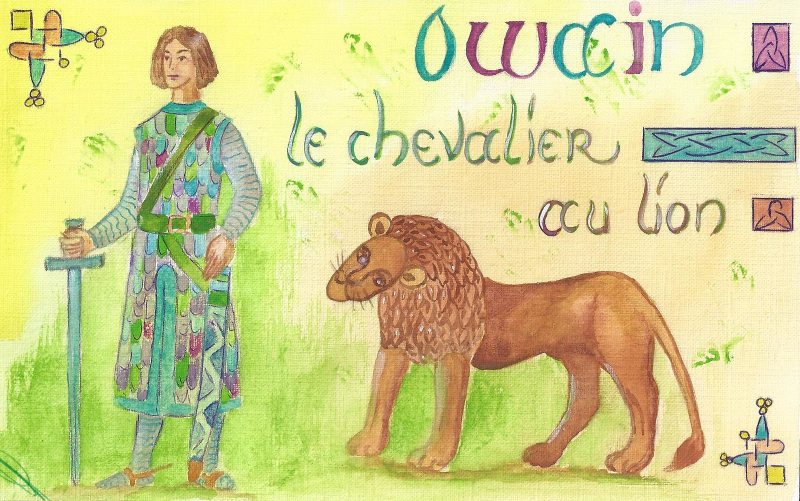 Comment yvain rencontre t il le lion