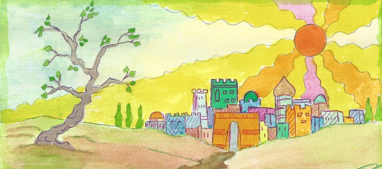 J'aime dessiner des villes imaginaires