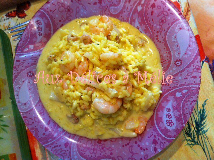 Risotto milanais aux crevettes et aux asperges le blog de aux d lices m lie - Peut on donner du riz cuit aux oiseaux ...
