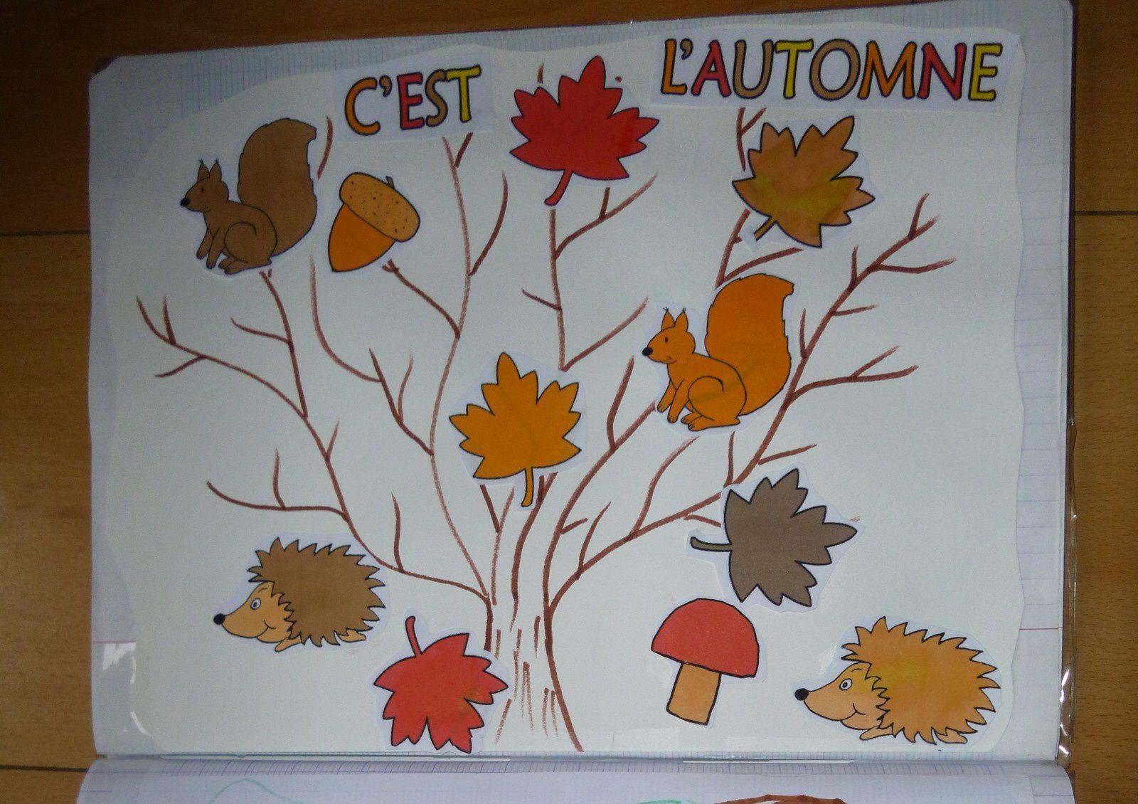 Collage &quot&#x3B;C'est l'automne&quot&#x3B;