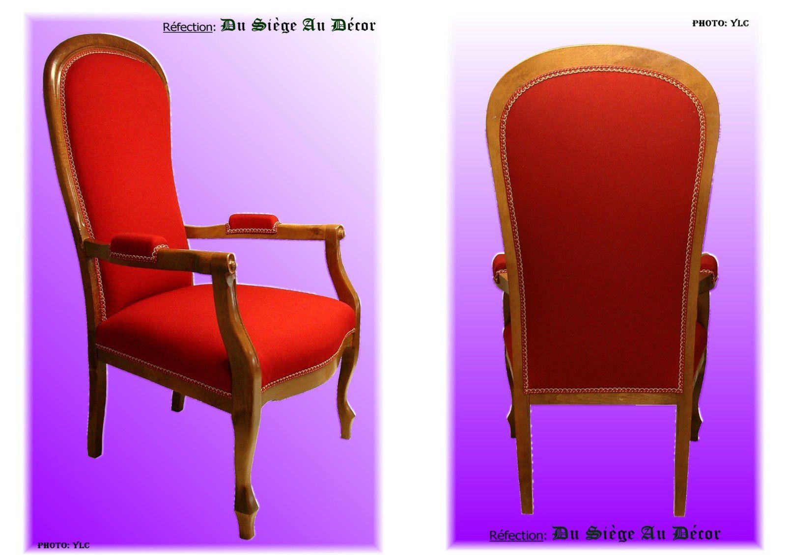 fauteuil voltaire xiii du si ge au d cor tapissier d 39 ameublement du si ge au d cor. Black Bedroom Furniture Sets. Home Design Ideas