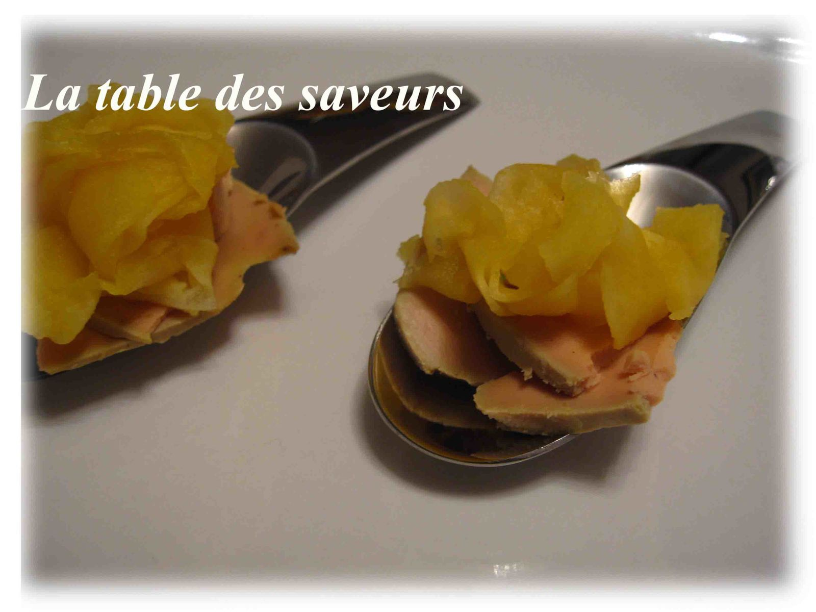 Foie gras et pomme