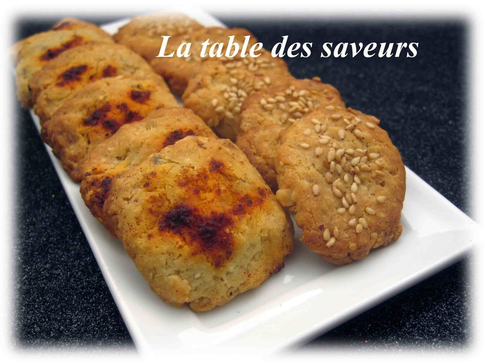 Cookies roquefort noisettes
