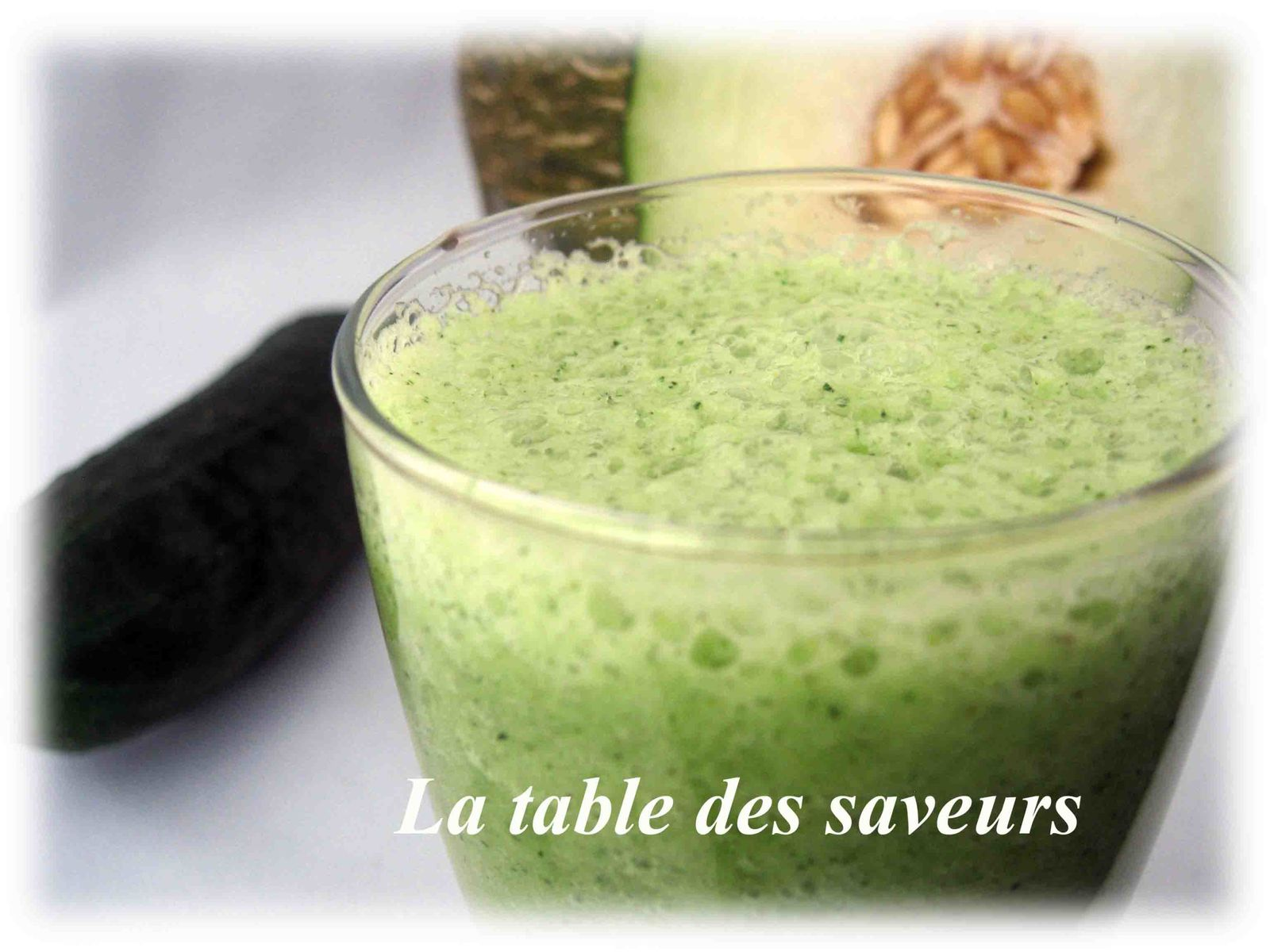 gaspacho melon concombre menthe la table des saveurs. Black Bedroom Furniture Sets. Home Design Ideas