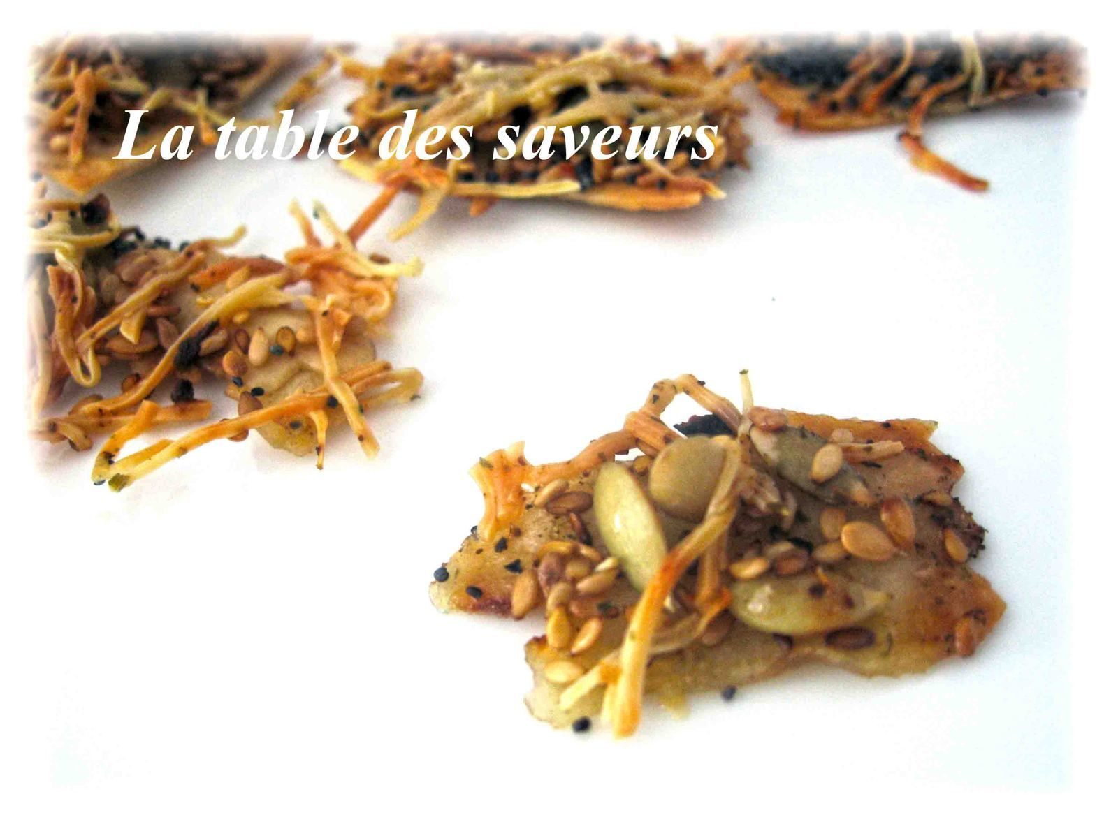 Crackers graines-fromage