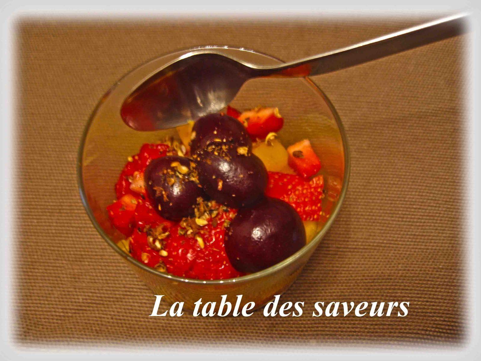 Fruits d'été au poivre de séchouan
