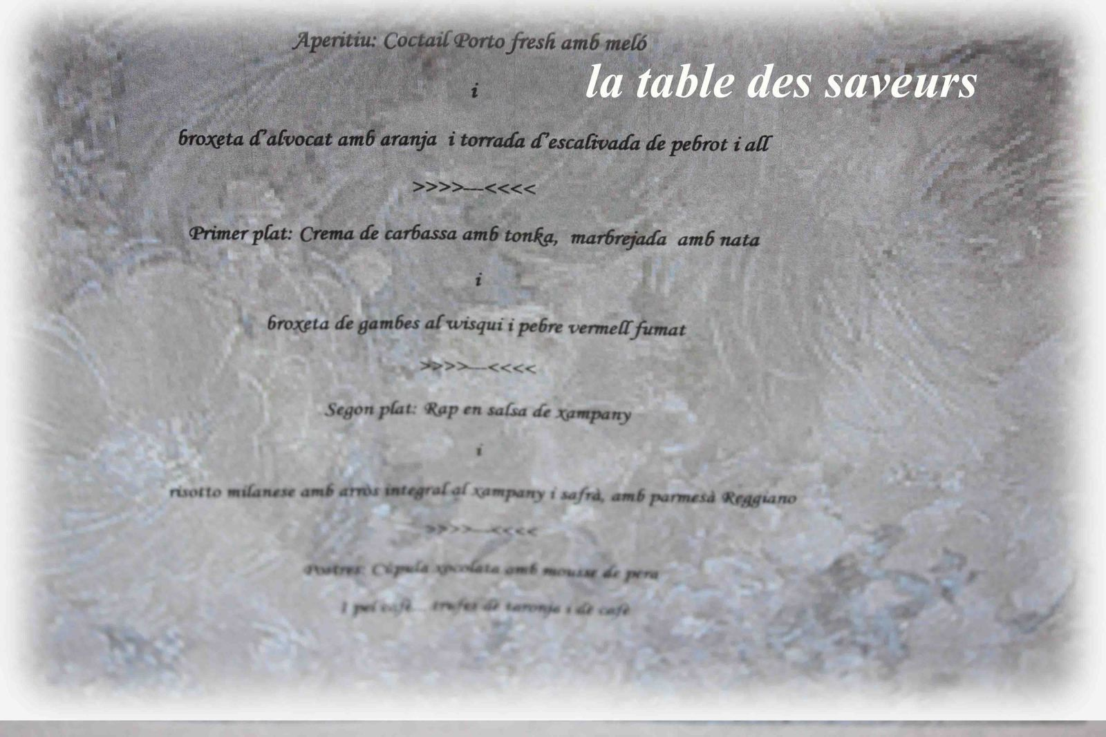 Menu surprise pour Meri