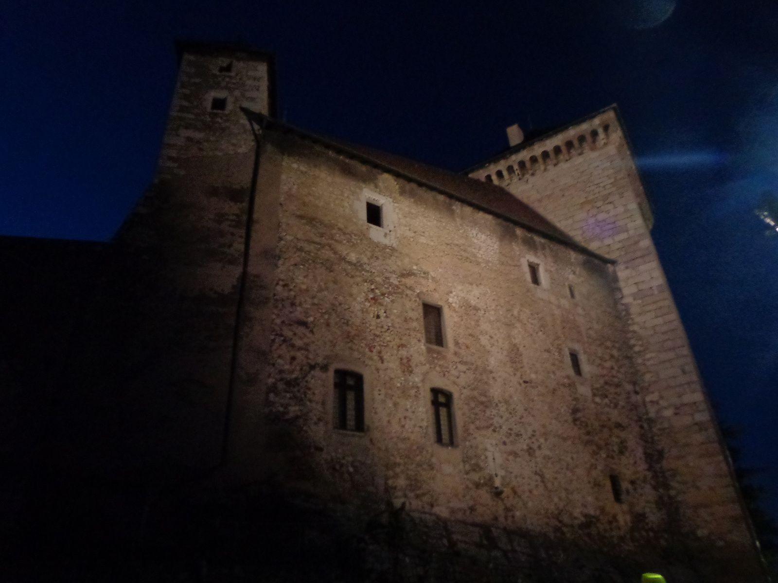 Annecy la nuit et le Pont de la Caille