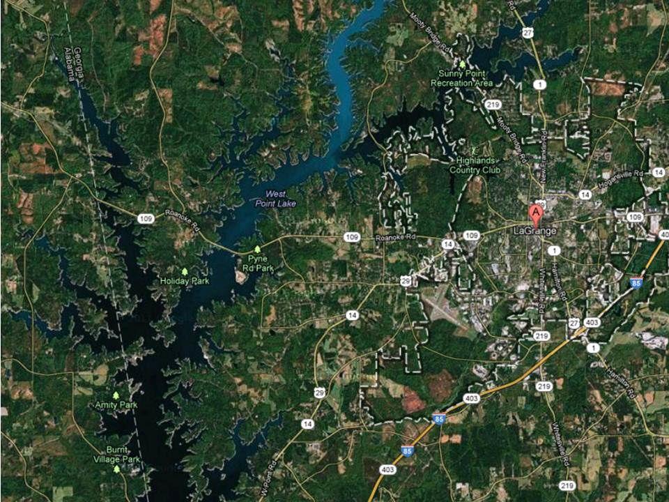 West Point Lake 56km de long, 10 500ha... de quoi faire!